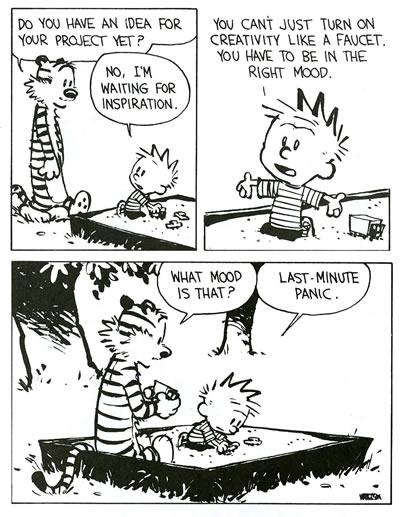 Calvin and Hobbes Panic